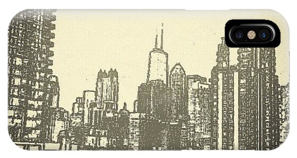 City Scape iPhone Case - Downtown Chi-town by Jeff Fagan