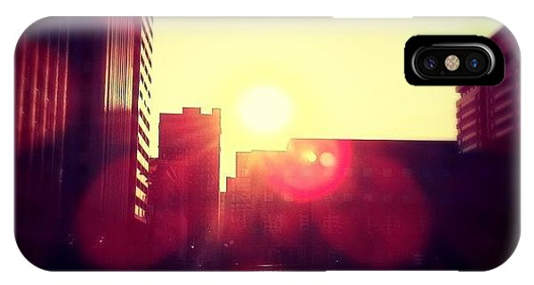 City Scape iPhone Case - Downtown Kc At Sunset by Justin Whedon