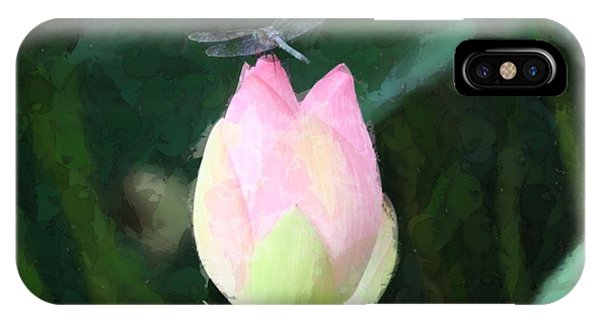 Dragonfly On Water Lily IPhone Case