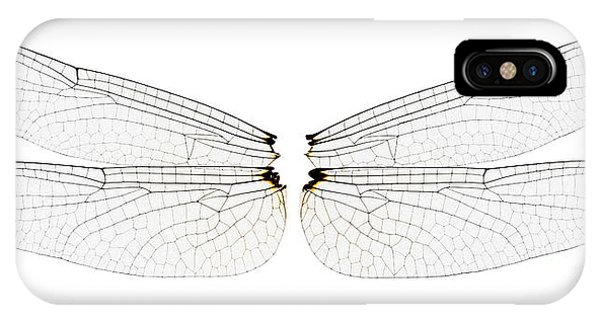 Pterygota iPhone Case - Dragonfly Wings by Raul Gonzalez Perez