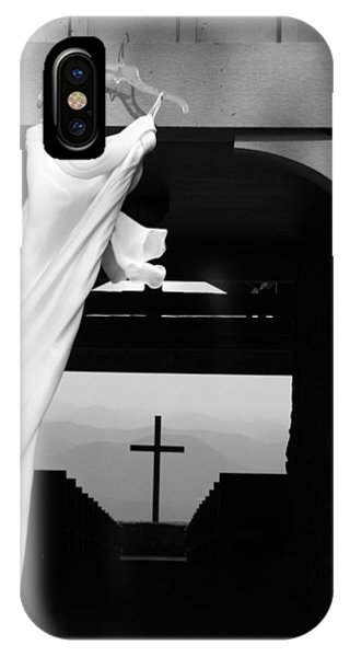 IPhone Case featuring the photograph Dress And Cross by Kelly Hazel