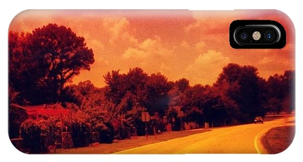 Edit iPhone Case - #driving #sky #clouds #road #summer by Katie Williams