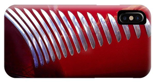 Duesenberg Hood Detail Abstract Phone Case by Howard Koby