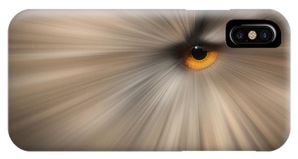 Eagle Owl Eye Abstract Phone Case by Andy Astbury