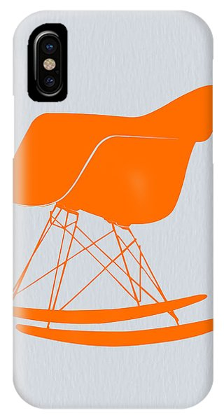 Vintage Camera iPhone Case - Eames Rocking Chair Orange by Naxart Studio
