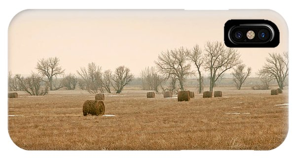 Earlying Morning Hay Bails IPhone Case