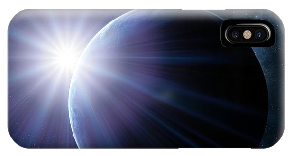 Earth And Sunset From Space, Artwork Phone Case by Detlev Van Ravenswaay