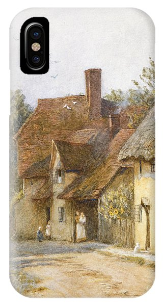 Town iPhone Case - East Hagbourne Berkshire by Helen Allingham