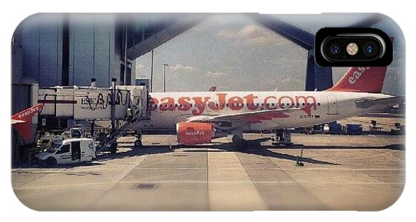 #easyjet #gatwick #airplane #airport IPhone Case