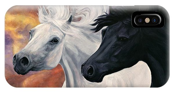 Ebony And Ivory IPhone Case