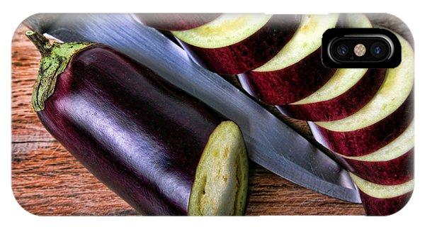 Eggplant Sliced Phone Case by Roberto Giobbi