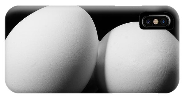 Eggs iPhone Case - Eggs In Black And White by Lori Coleman