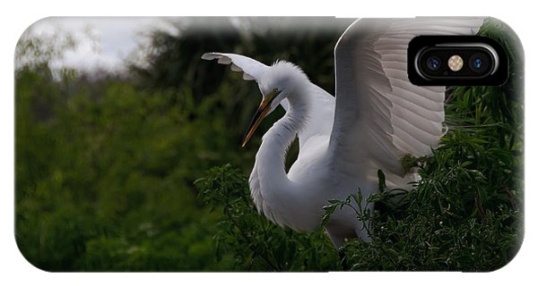 Egret Wings IPhone Case