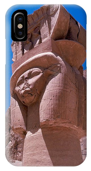 Egyptian Stone Goddess Phone Case by Carl Purcell