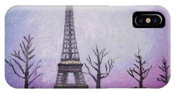 Eiffel At Night IPhone Case