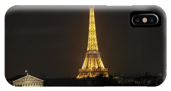 Eiffel Tower At Night IPhone Case
