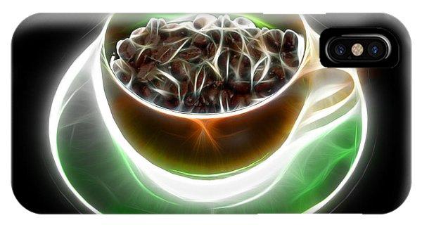 Electrifyin The Coffee Bean -version Orange IPhone Case