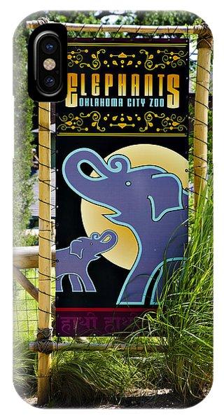 Ok iPhone Case - Elephants by Ricky Barnard