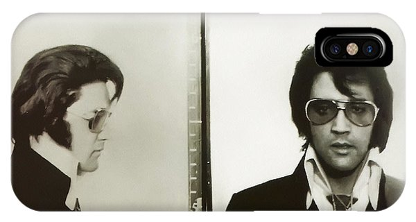 IPhone Case featuring the photograph Elvis Mugshot 1970 by Digital Reproductions