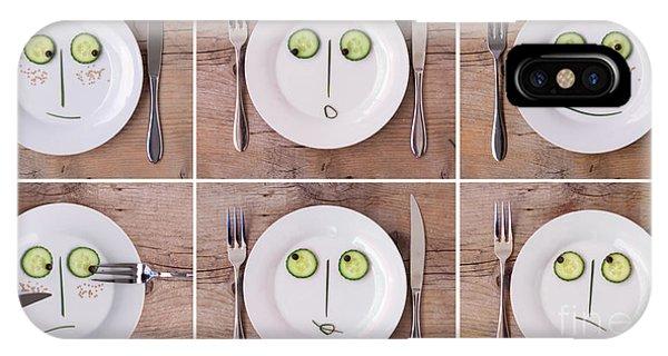 Saucer iPhone Case - Emotions 01 by Nailia Schwarz