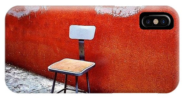 City iPhone Case - Empty Chair by Julie Gebhardt