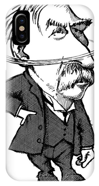 Ernest Rutherford, Caricature Phone Case by Gary Brown