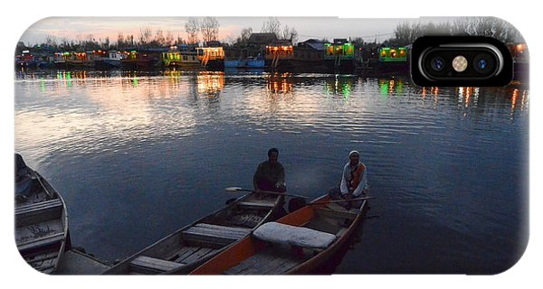 Evening On Dal Lake IPhone Case