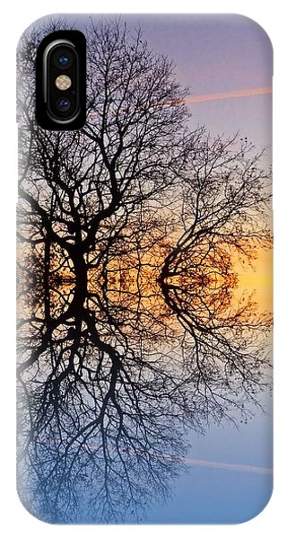 Evening Sky Trails Phone Case by Sharon Lisa Clarke