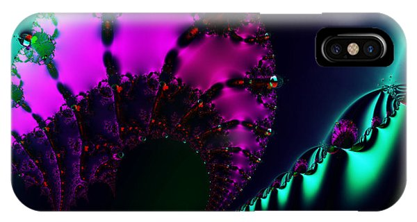 Julia Fractal iPhone X Case - Event Horizon . S17 by Wingsdomain Art and Photography