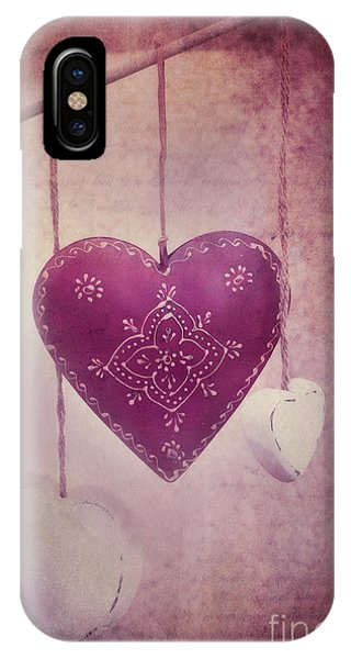 Hearts iPhone Case - Ever And Anon by Priska Wettstein