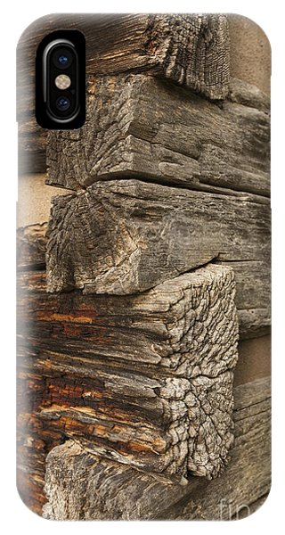 Exterior Corner Of A Wooden Building IPhone Case