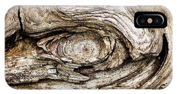 Eye Of Mystery Knot In Wood IPhone Case