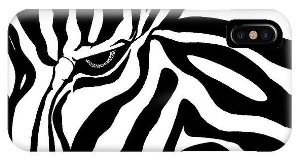 Eye Of The Zebra IPhone Case