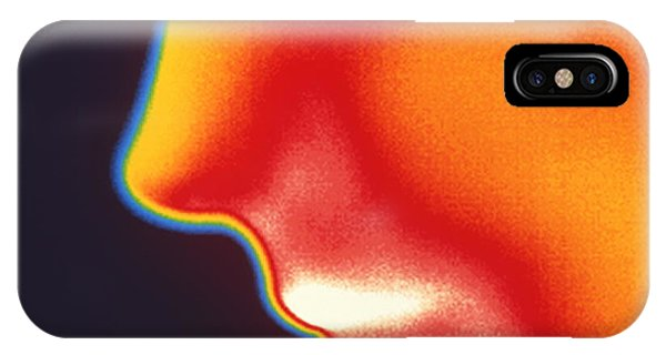 Face Thermogram Phone Case by Tony Mcconnell