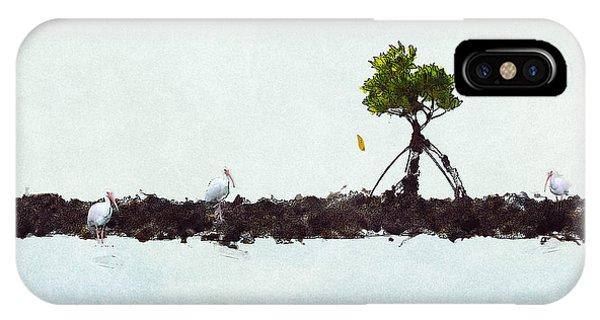 Falling Mangrove Leaf IPhone Case