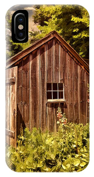 New England Barn iPhone Case - Farming Shed by Lourry Legarde