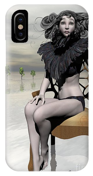 iPhone Case - Femme Avec Chaise by Sandra Bauser Digital Art