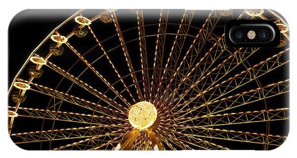 Funfair iPhone Case - Ferris Wheel by Bernard Jaubert