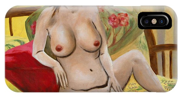 Fine Art Female Nude Seated 2010 IPhone Case