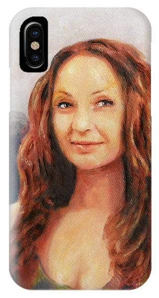 Fine Art Original Painting Jen Mona Lisa 2012 IPhone Case