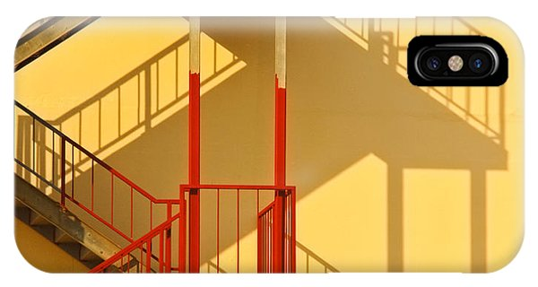 Fire Escape And Shadow Phone Case by David Buffington
