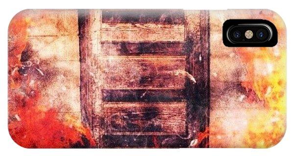 Edit iPhone Case - Fire Escape by Mari Posa