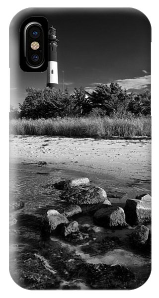 Fire Island In Black And White IPhone Case