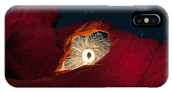Valley Of Fire iPhone Case - Firearch by Rick Berk