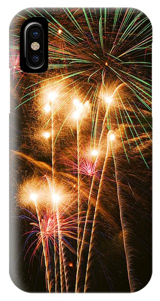 Fireworks In Night Sky IPhone Case