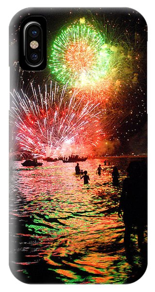 Fireworks On The Beach Phone Case by Perry Van Munster