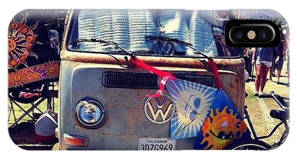 Volkswagen Bus iPhone Case - First Pic I Took At #coachella by Ace Morris