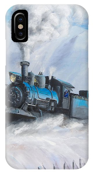Train iPhone Case - First Train Through by Christopher Jenkins