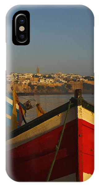 Fishing Boats In Front Of Kasbah Des IPhone Case