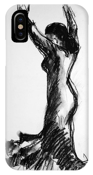 Spin iPhone Case - Flamenco Sketch 3 by Mona Edulesco